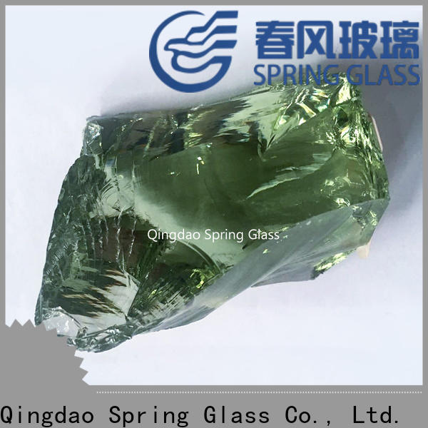 Spring Glass high quality landscaping glass rocks for busniess for garden