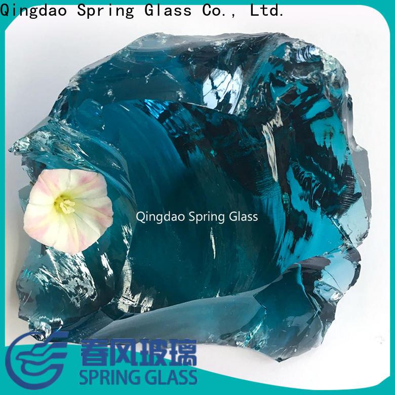 Spring Glass glass rocks manufacturer for garden