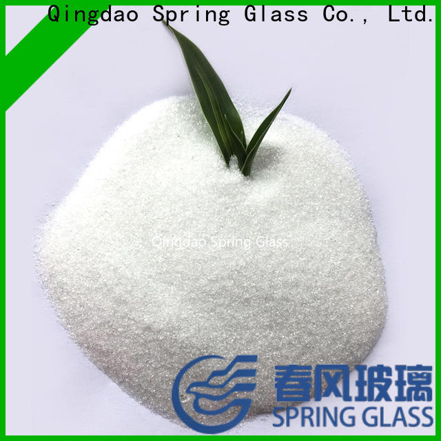 high quality crushed glass powder factory for paving