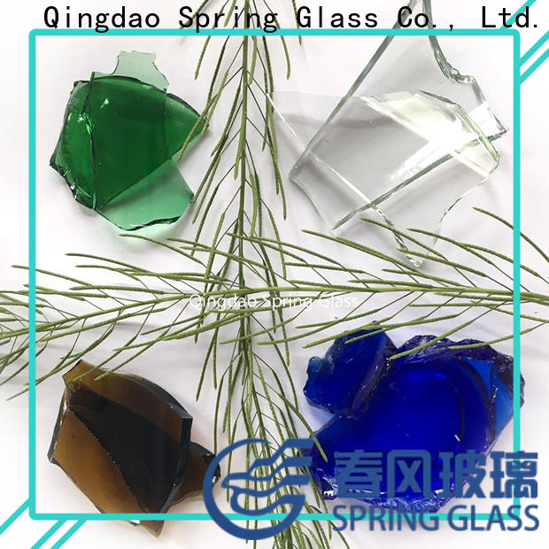 Spring Glass sheet glass cullet factory for fire bottle