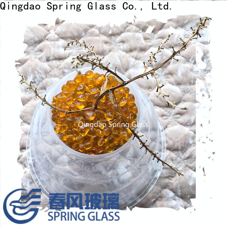 red glass pebble manufacturer for square