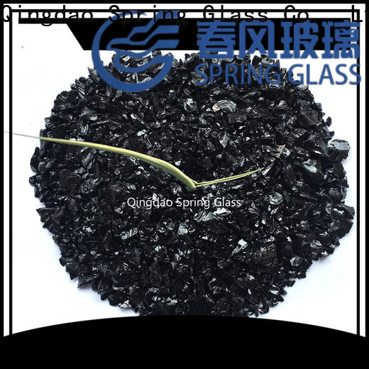 black recycled crushed glass manufacturer for floor