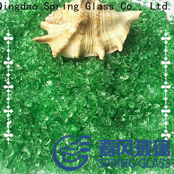 super white crushed glass supplier for kitchen