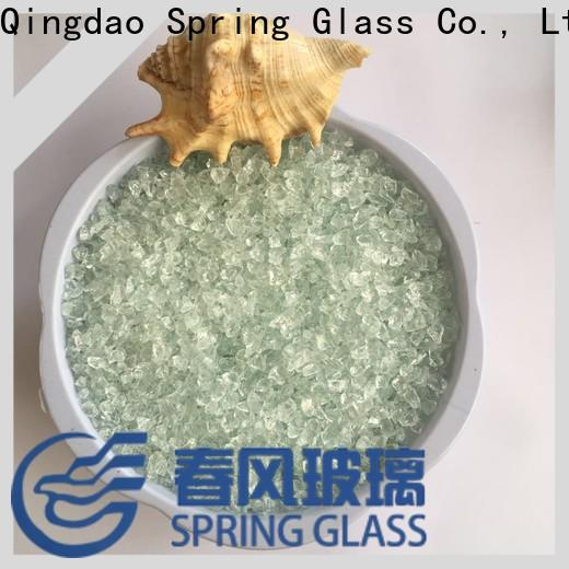 Spring Glass sky blue recycled crushed glass factory for sale