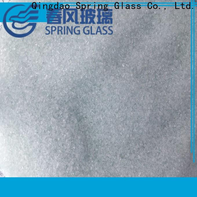 Spring Glass normal decorative crushed glass for busniess for kitchen