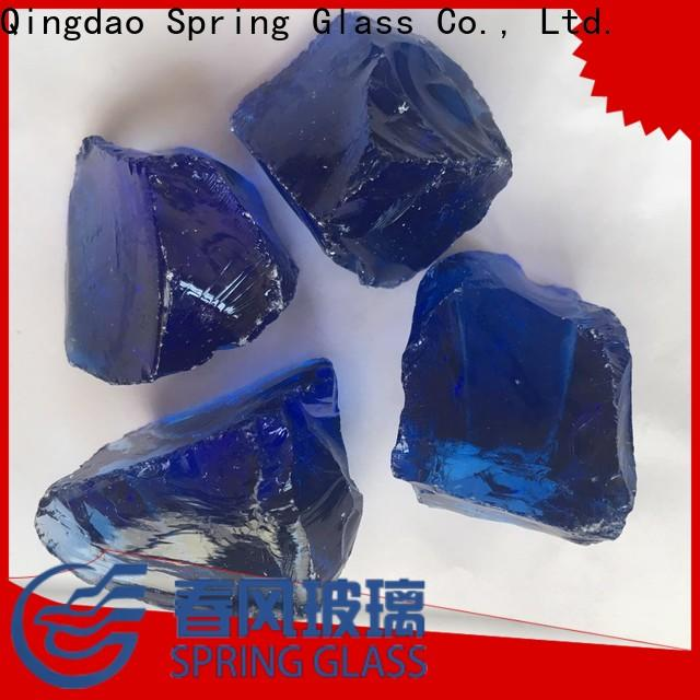 Spring Glass colorful landscaping glass rocks factory for garden