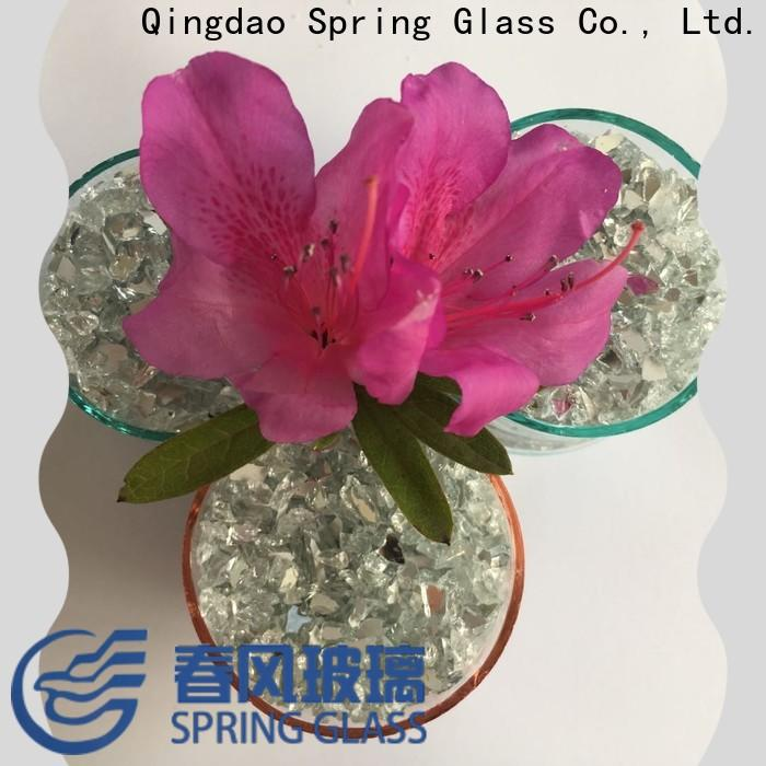 Spring Glass crushed glass chips supplier for sale