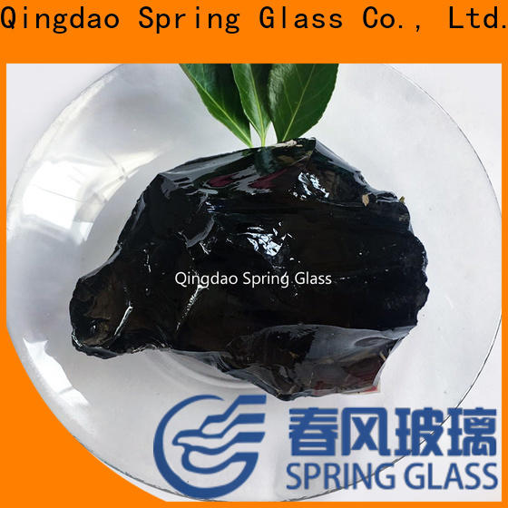 Spring Glass landscaping glass rocks factory for garden