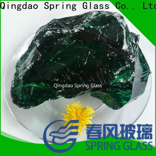 amber landscaping glass rocks manufacturer for square