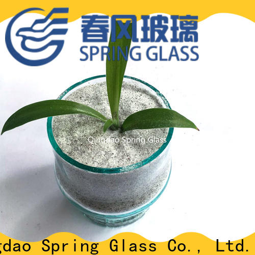 Spring Glass crushed mirror chips supplier for engineered stone