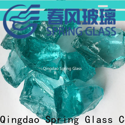 Spring Glass light recycled crushed glass manufacturer for kitchen