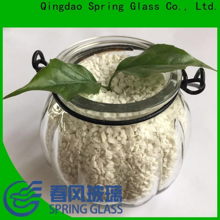 Spring Glass green crushed glass supplier for floor