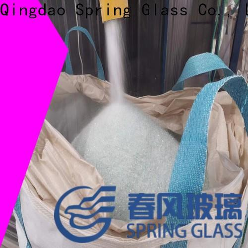 Spring Glass top crushed glass chips factory for engineered stone