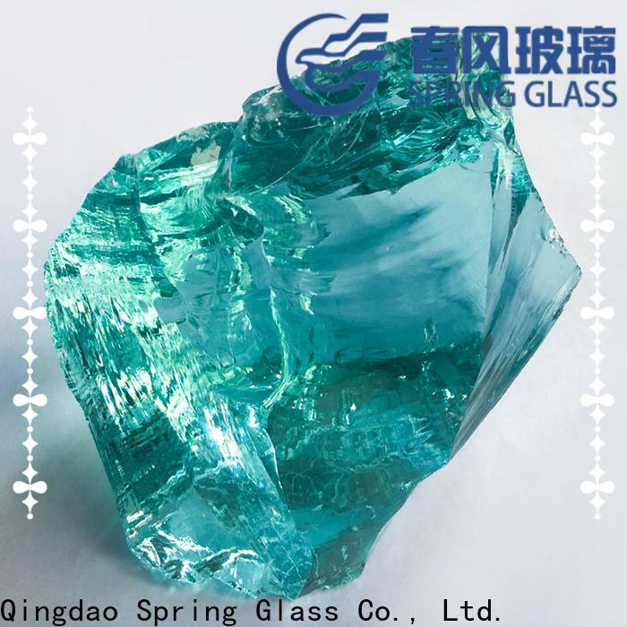 custom glass rocks supplier for square