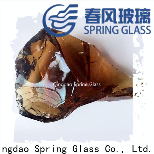 Spring Glass green landscaping glass rocks supplier for home