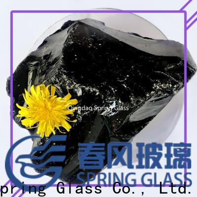dark fire glass rocks manufacturer for decoration