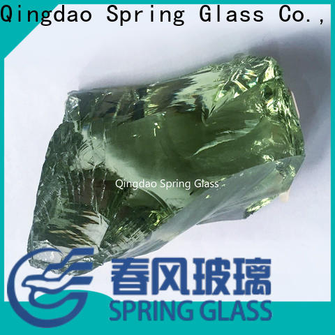 Spring Glass landscaping glass rocks factory for decoration
