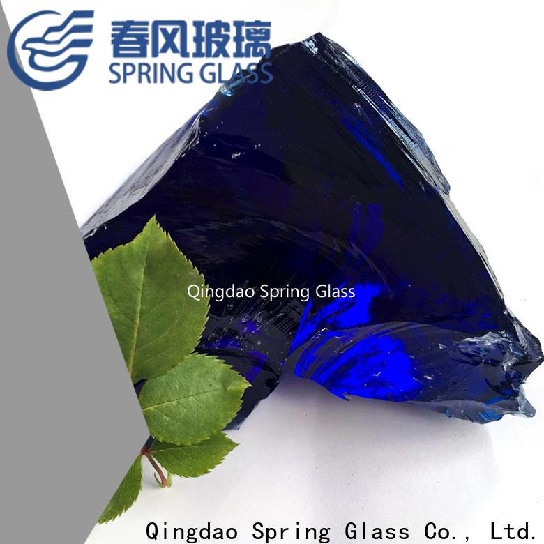 Spring Glass fire glass rocks factory for home