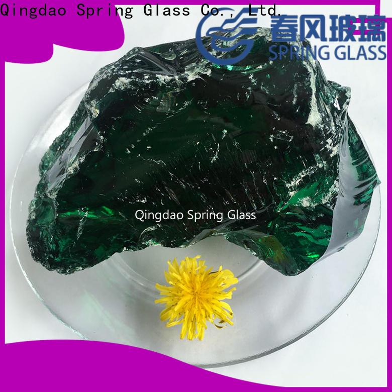 Spring Glass glass rocks supplier for garden