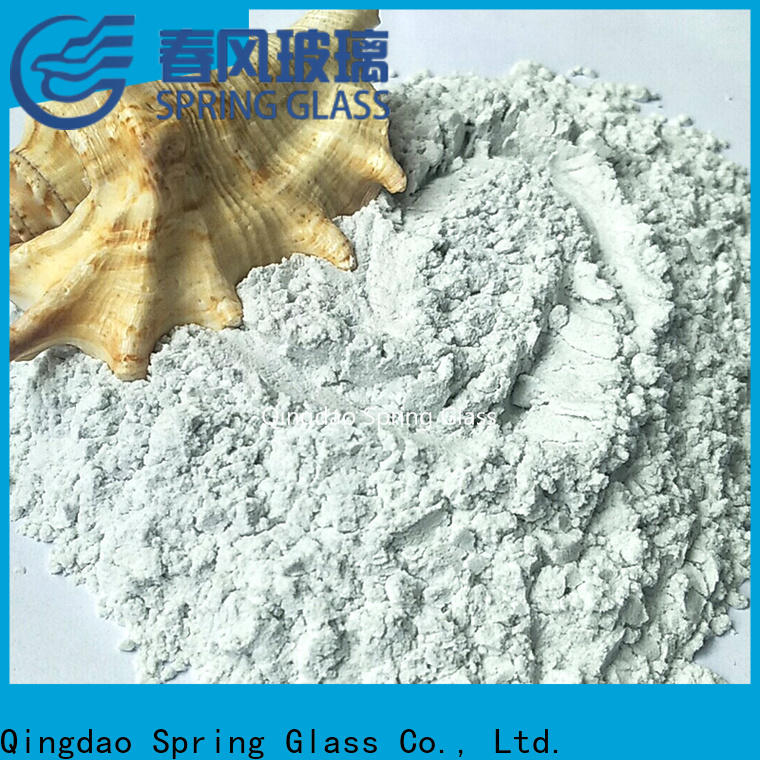 super white crushed glass powder factory for paving