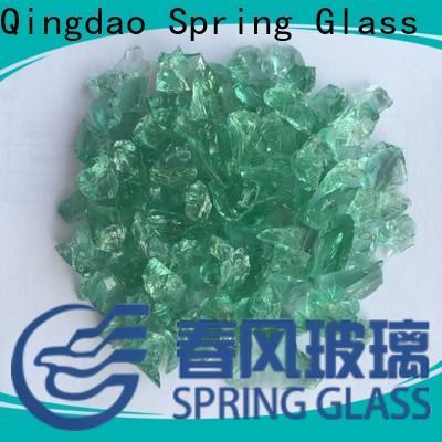 Spring Glass dark decorative crushed glass manufacturer for decoration
