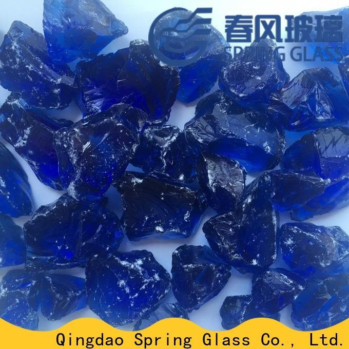 Spring Glass fire glass rocks company for square