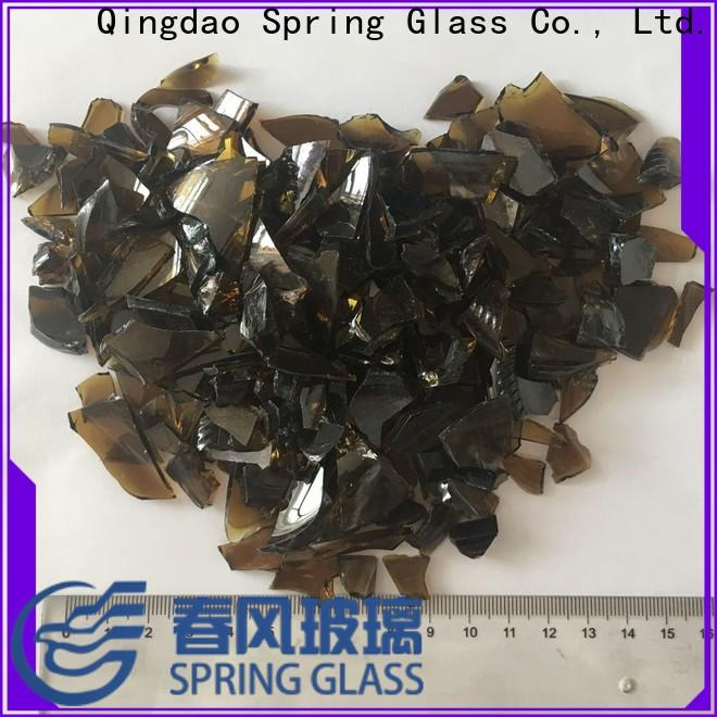 Spring Glass float cullet manufacturer for fire place