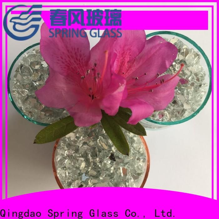Spring Glass top mirror chips manufacturer for decoration