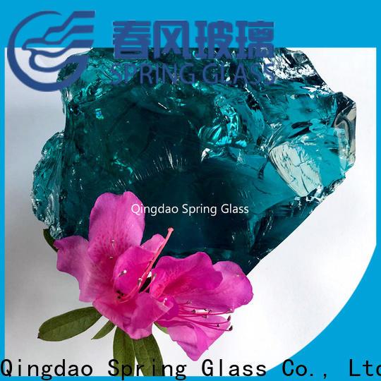 Spring Glass light fire glass rocks company for decoration