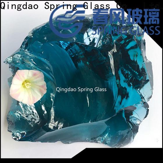 Spring Glass sky blue glass rocks company for garden