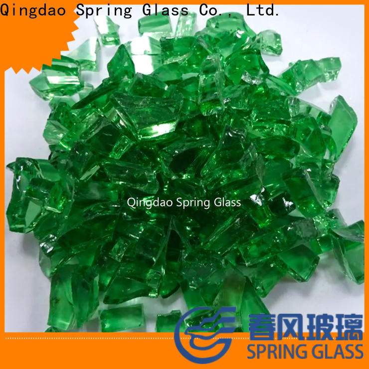 Spring Glass glass cullet factory for fire place