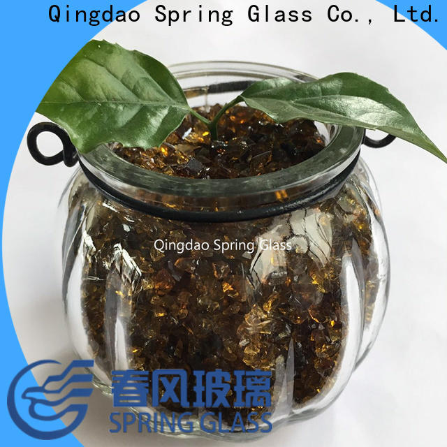 Spring Glass latest decorative crushed glass manufacturer for floor