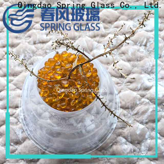 best glass gravel factory for decoration