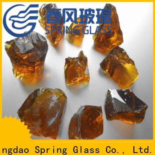 Spring Glass glass rocks manufacturer for decoration