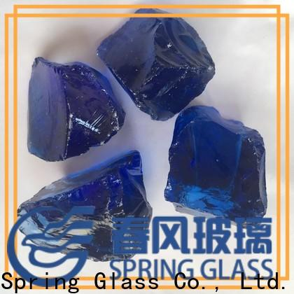 Spring Glass glass rocks factory for garden