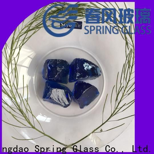 Spring Glass fire glass rocks supplier for square