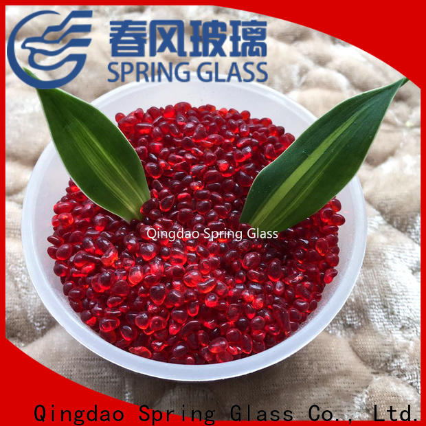 Spring Glass glass pebble manufacturer for decoration