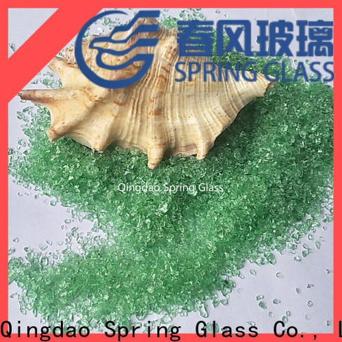 tawny crushed glass manufacturer for decoration