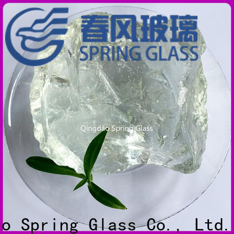 Spring Glass fire fire glass rocks supplier for square