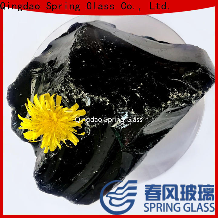 Spring Glass wholesale fire glass rocks supplier for square