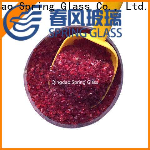 Spring Glass dark recycled crushed glass for busniess for sale