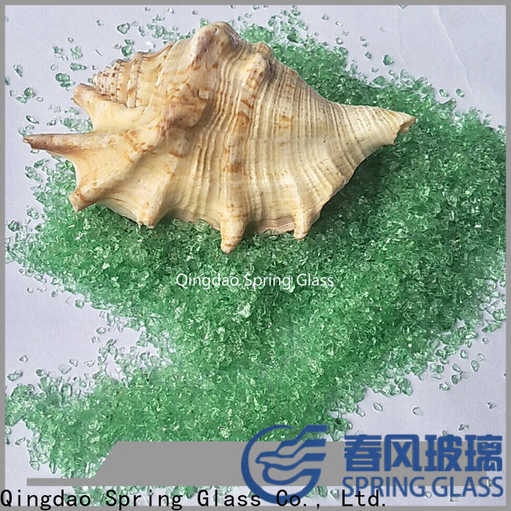 Spring Glass porcelain recycled crushed glass company for decoration