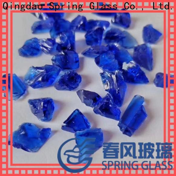 Spring Glass super white glass rocks manufacturer for square