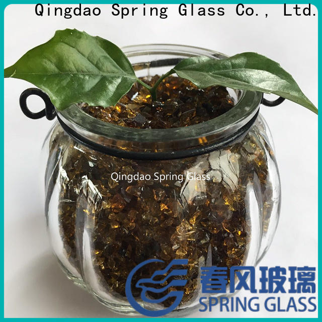 super white crushed glass supplier for floor