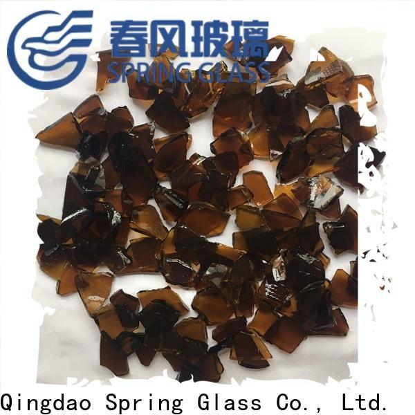 Spring Glass cullet chips for fire bottle