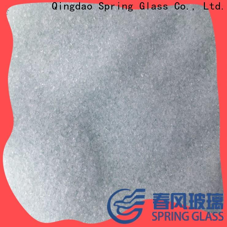Spring Glass decorative crushed glass supplier for floor