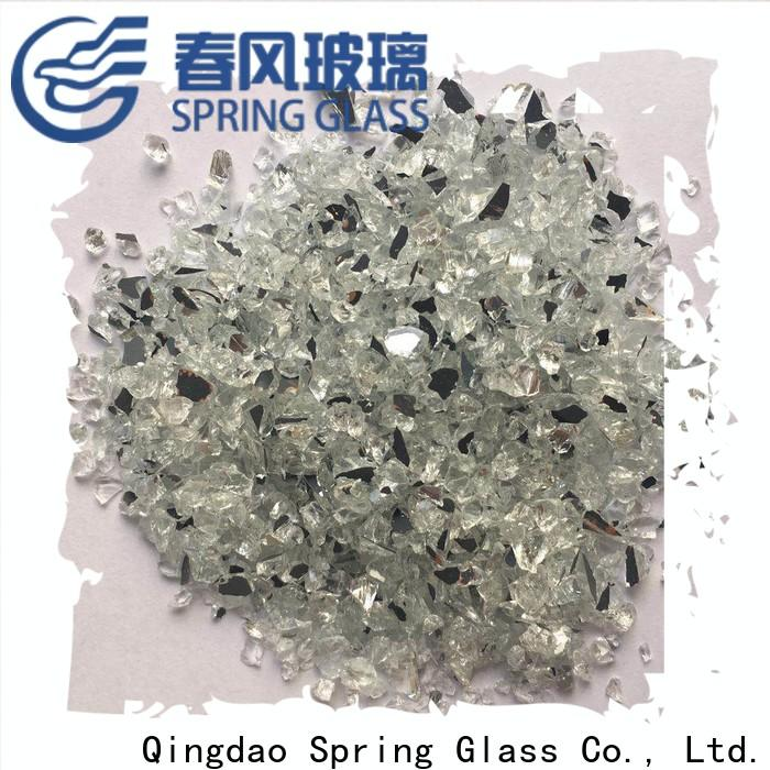Spring Glass crushed mirror chips manufacturer for decoration