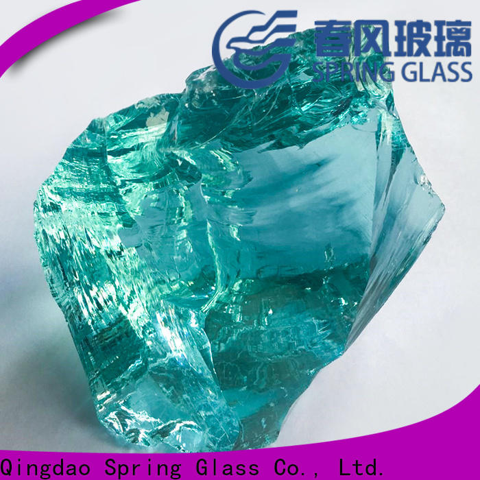 Spring Glass grey fire glass rocks manufacturer for home