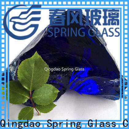 Spring Glass custom glass rocks supplier for square