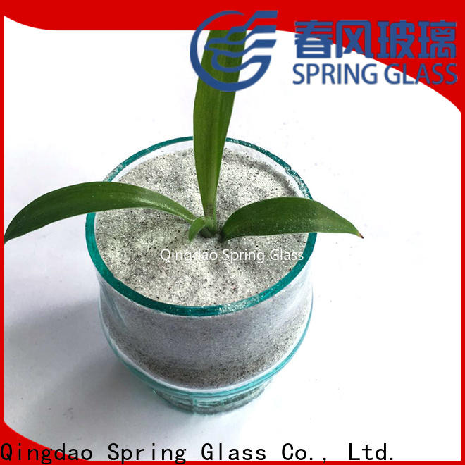 Spring Glass crushed mirror chips factory for engineered stone